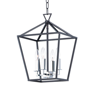 Maxim Lighting 25152TXBPN Abode-Chandelier in Textured Black / Polished Nickel