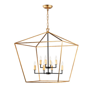 Maxim Lighting 25154GLTXB Abode-Multi-Tier Chandelier in Gold Leaf / Textured Black