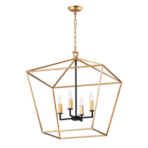 Maxim Lighting 25155GLTXB Abode-Chandelier in Gold Leaf / Textured Black