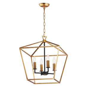Maxim Lighting 25156GLTXB Abode-Chandelier in Gold Leaf / Textured Black