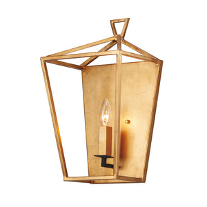 Maxim Lighting 25159GLTXB Abode-Wall Sconce in Gold Leaf / Textured Black