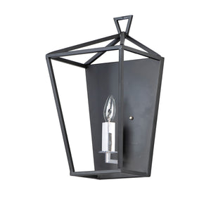 Maxim Lighting 25159TXBPN Abode-Wall Sconce in Textured Black / Polished Nickel
