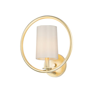 Meridian 1 Light Semi Flush Mount in Natural Aged Brass Finish by Maxim Lighting 25291OFNAB