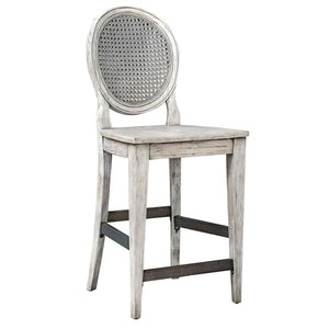 Uttermost Clarion Aged White Counter Stool 25438