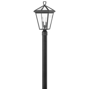Alford Place Outdoor Post Mount by Hinkley 2561MB Museum Black