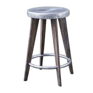 Uttermost Maxen Hammered Top Counter Stool 25831