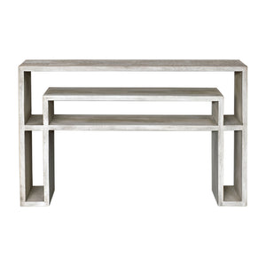 Uttermost Genara Bone White Carved Console Table 25839