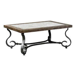 Uttermost Mona Light Honey Stained Coffee Table 25857