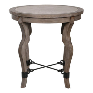 Uttermost Blanche Travertine Lamp Table 25970