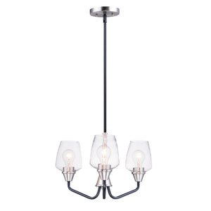 Maxim Lighting 26124CLBKSN Goblet-Mini Chandelier in Black / Satin Nickel