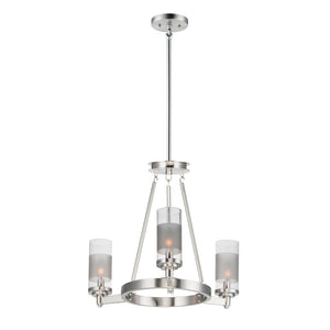 Maxim Lighting 26325CLFTSN Crescendo-Mini Chandelier in Satin Nickel