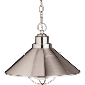 Seaside 1 Light Outdoor Hanging Pendant in Brushed Nickel Finish by Kichler 2713NI