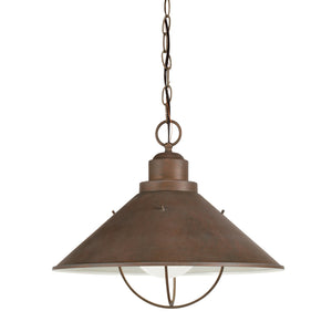 Seaside 1 Light Outdoor Hanging Pendant in Olde Brick Finish by Kichler 2713OB