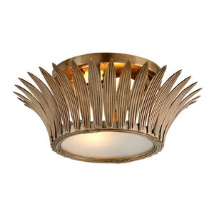 Romanov 2 Light Flush Mount By Corbett 274-32 in Vintage Brass Finish