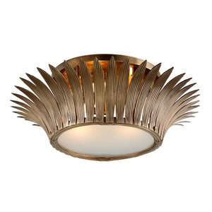 Romanov 3 Light Flush Mount By Corbett 274-34 in Vintage Brass Finish