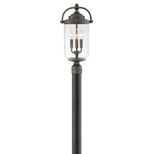Willoughby Outdoor Post Mount by Hinkley 2757OZ Coastal Elements Oil Rubbed Bronze