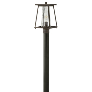 Burke Outdoor Post Mount by Hinkley 2791OZ-CL Oil Rubbed Bronze with Clear glass