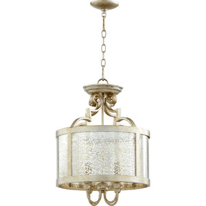 Champlain 4 Light Dual Mount in Aged Silver Leaf Finish 2881-16-60