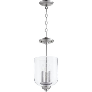 Richmond 3 Light Dual Mount in Satin Nickel w/ Clear/Seeded Finish 2911-8-165