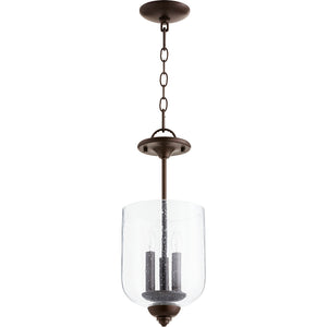 Richmond 3 Light Dual Mount in Oiled Bronze w/ Clear/Seeded Finish 2911-8-186