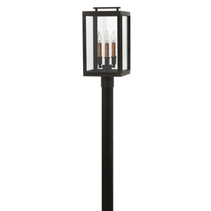 Sutcliffe Outdoor Post Mount by Hinkley 2911OZ-LL Oil Rubbed Bronze