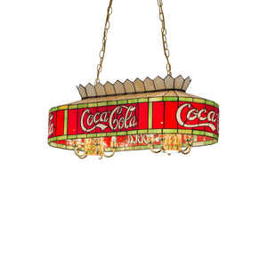 "32""L Coca-Cola Oblong Pendant by Meyda 29263"