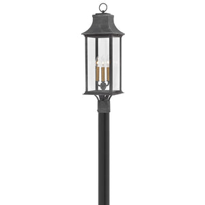 Adair Outdoor Post Mount by Hinkley 2931DZ Heritage Aged Zinc