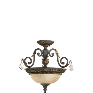 Rio Salado 2 Light Dual Mount in Toasted Sienna With Mystic Silver Finish 2957-17-44