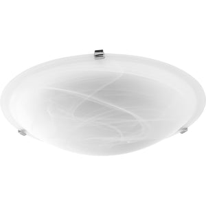 4 Light Ceiling Mount in Polished Nickel w/ Faux Alabaster Finish 3000-20-62