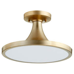 1 Light Ceiling Mount in Aged Brass Finish 3001-15-80