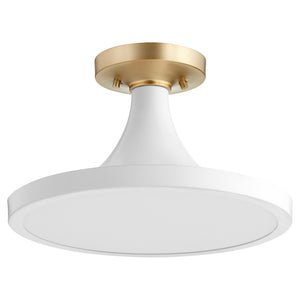 1 Light Ceiling Mount in Studio White Finish 3001-15-8