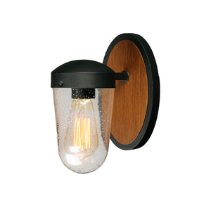 Maxim Lighting 30011CDAPBK Lido 1-Light Outdoor Wall Sconce in Antique Pecan / Black Finish