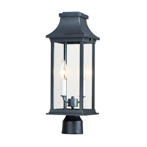 Vicksburg 2 Light Outdoor Pole/Post Mount in Black Finish by Maxim Lighting 30020CLBK