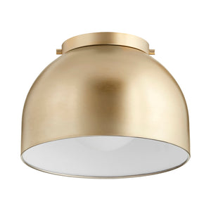 1 Light Ceiling Mount in Aged Brass Finish 3004-11-80