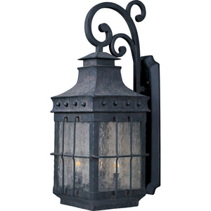 Maxim Lighting 30085CDCF Nantucket 4-Light Outdoor Wall Lantern in Country Forge Finish