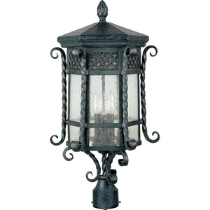 Maxim Lighting 30120CDCF Scottsdale 3-Light Outdoor Pole/Post Lantern in Country Forge Finish