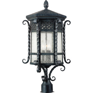 Maxim Lighting 30121CDCF Scottsdale 3-Light Outdoor Pole/Post Lantern in Country Forge Finish