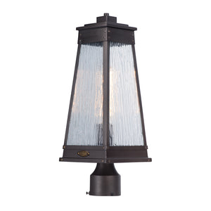 Maxim Lighting 3041RPOLB Schooner 1-Light Outdoor Post Lamp in Olde Brass Finish