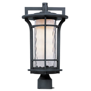 Maxim Lighting 30480WGBO Oakville 1-Light Outdoor Pole/Post Lantern in Black Oxide Finish