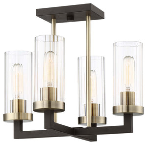 Ainsley Court 4 Light Semi Flush Mount In Aged Kinston Bronze  Finish by Minka Lavery 3049-560