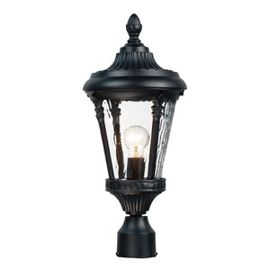 Maxim Lighting 3050WGBK Sentry 1-Light Outdoor Pole/Post Mount in Black Finish