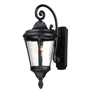 Maxim Lighting 3054WGBK Sentry 1-Light Outdoor Wall Sconce in Black Finish