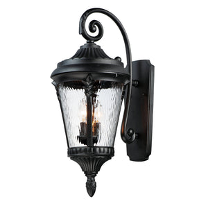 Maxim Lighting 3055WGBK Sentry 3-Light Outdoor Wall Sconce in Black Finish