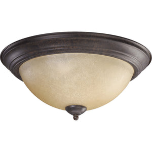 3 Light Ceiling Mount in Toasted Sienna Finish 3073-15-44