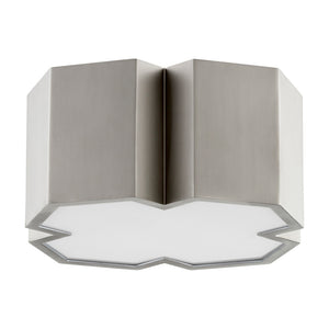 2 Light Ceiling Mount in Satin Nickel Finish 3094-13-65