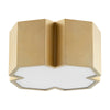 2 Light Ceiling Mount in Aged Brass Finish 3094-13-80