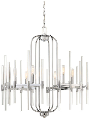 Pillar 6 Light Chandelier In Chrome Finish by Minka Lavery 3097-77