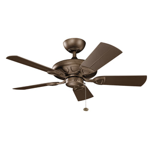 Kevlar Light Ceiling Fan in Weathered Copper Powder Coat Finish by Kichler 310144WCP