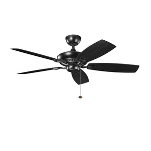 Canfield Patio Light Ceiling Fan in Satin Black Finish by Kichler 310192SBK