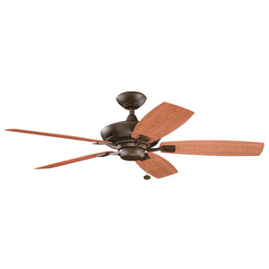 Canfield Patio Light Ceiling Fan in Tannery Bronze Powder Coat Finish by Kichler 310192TZP